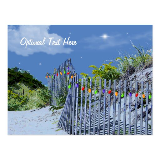 Cerca y dunas de la playa postales