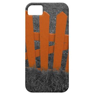 Cercado anaranjado del piquete funda para iPhone SE/5/5s