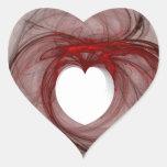 Cercado con amor pegatina en forma de corazón