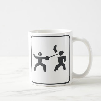 Cercado contra karate tazas de café