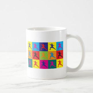 Cercado de arte pop tazas de café