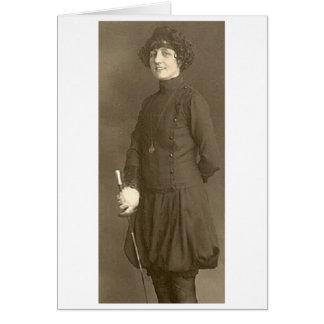 ¡Cercado de las Olimpiadas de Adelina Gehrig 1924  Tarjeta De Felicitación