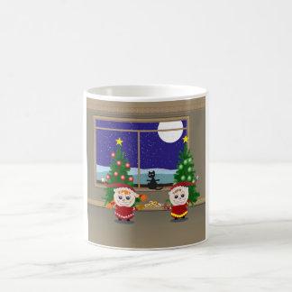 Cercado de Navidad Elfs Taza Clásica
