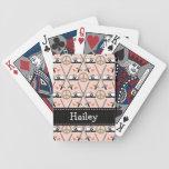 Cercado del amor de la paz baraja de cartas