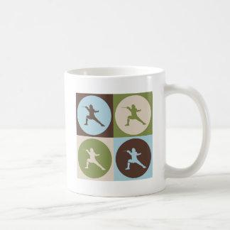 Cercado del arte pop tazas de café