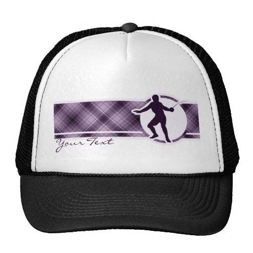 Cercado púrpura gorras de camionero