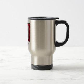 Cercador de aluminio cepillado de la mirada taza de café