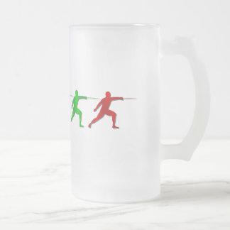 Cercadores del Epee que cercan deportes para mujer Tazas De Café