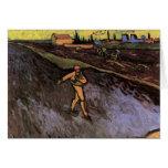 Cercanías del sembrador de Van Gogh de Arles, camp Tarjetón