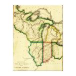 Cercano oeste en el mapa unido de StatesPanoramic Lona Envuelta Para Galerias