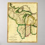 Cercano oeste en el mapa unido de StatesPanoramic Impresiones
