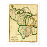 Cercano oeste en el mapa unido de StatesPanoramic Tarjeta Postal