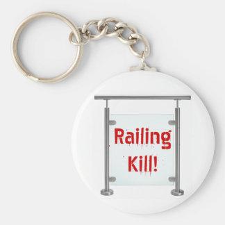 ¡Cercar matanza con barandilla! Llavero Redondo Tipo Pin