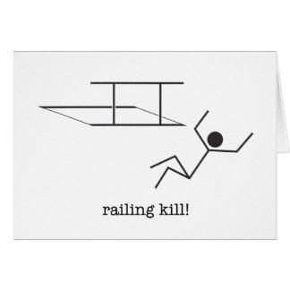 ¡cercar matanza con barandilla! tarjeta de nota