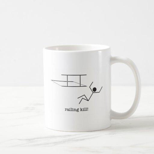 ¡cercar matanza con barandilla! taza
