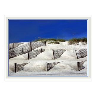 Cercas de la arena tarjeta postal