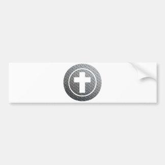 Cercle Métal de los dans de Croix Pegatina Para Auto