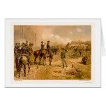 Cerco de Atlanta por L. Prang & Company 1888 Tarjetón