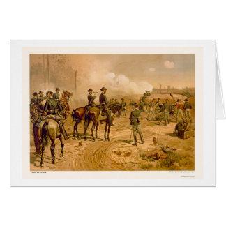 Cerco de Atlanta por L. Prang & Company 1888 Tarjeta De Felicitación