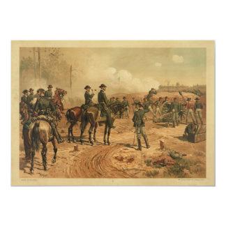 Cerco de la guerra civil de Atlanta de Thure de Invitación 12,7 X 17,8 Cm