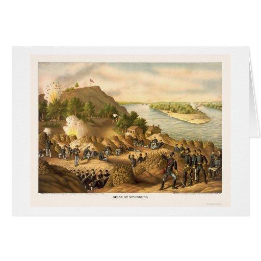 Cerco de Vicksburg de Kurz y de Allison 1863 Tarjetas