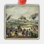Cerco de Viena, el 28 de octubre de 1848 Adorno Navideño Cuadrado De Metal
