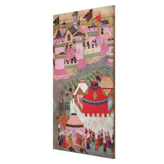 Cerco de Viena por Suleyman I el magnífico Lona Estirada Galerias