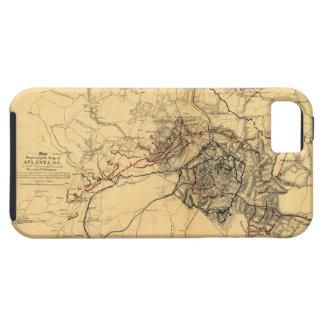 Cerco del mapa de la guerra civil de Atlanta iPhone 5 Carcasa