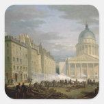 Cerco del panteón, el 24 de junio de 1848 pegatina cuadrada