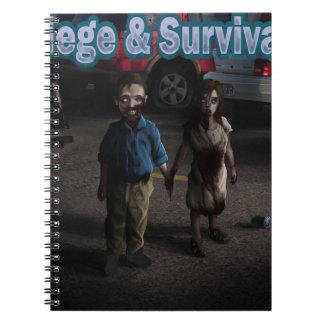 Cerco y supervivencia MUERTOS Libros De Apuntes