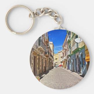 Cerdeña - calle principal en Carloforte Llaveros Personalizados