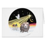 Cerdo 2 de Paloma-Guinea de Navidad Tarjeton