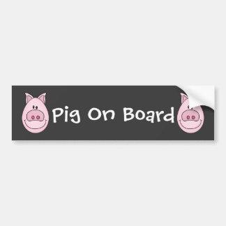 Cerdo a bordo pegatina para el parachoques pegatina para auto