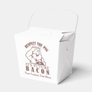 CERDO a las cajas para llevar de encargo del Cajas Para Regalos De Boda