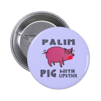 Cerdo anti de Sarah Palin con el botón del lápiz l