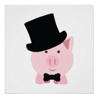 Cerdo apuesto perfect poster
