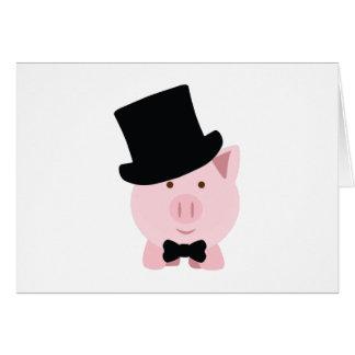 Cerdo apuesto tarjeta pequeña
