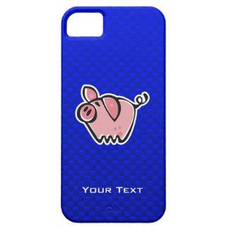 Cerdo; Azul iPhone 5 Funda