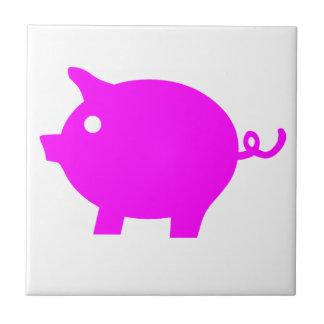 Cerdo Azulejo Cuadrado Pequeño