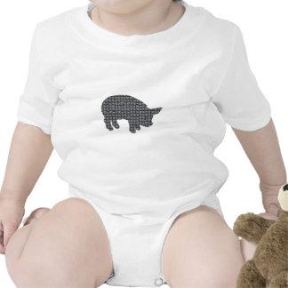 Cerdo bloqueado trajes de bebé