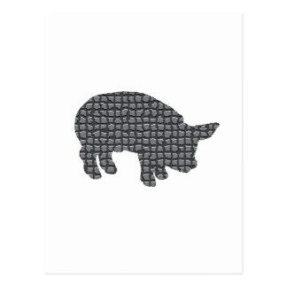 Cerdo bloqueado postal