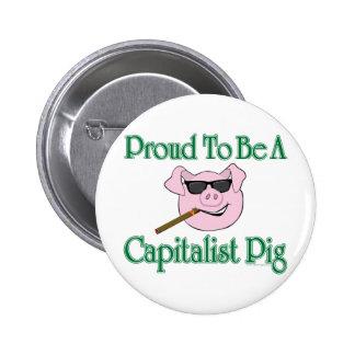 Cerdo capitalista orgulloso pin