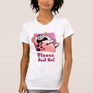 Cerdo chistoso divertido del dibujo animado del playera