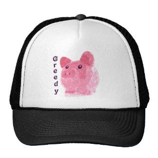 cerdo codicioso gorras