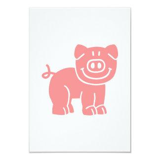 """Cerdo cómico invitación 3.5"""" x 5"""""""