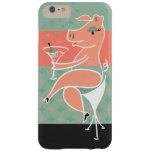 Cerdo con Martini Funda Barely There iPhone 6 Plus