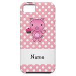 Cerdo conocido personalizado con los lunares de la iPhone 5 protector
