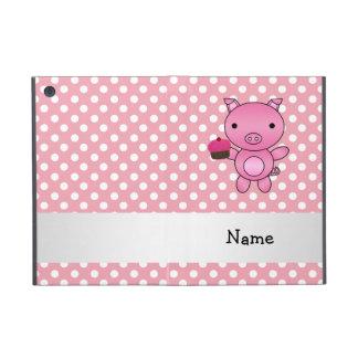 Cerdo conocido personalizado con los lunares de la iPad mini carcasas