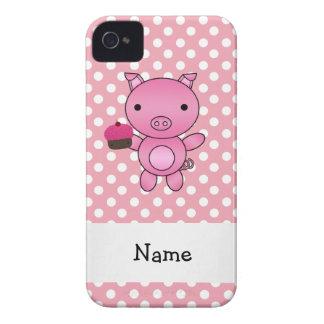 Cerdo conocido personalizado con los lunares de la funda para iPhone 4 de Case-Mate