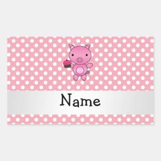 Cerdo conocido personalizado con los lunares de la pegatina